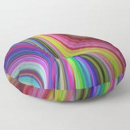 Rainbow vortex Floor Pillow