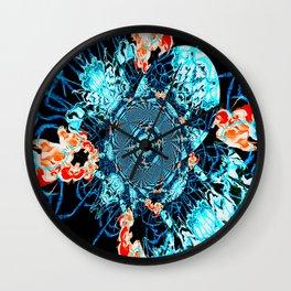 HypnoSpace- Tangent Blue & Orange Wall Clock