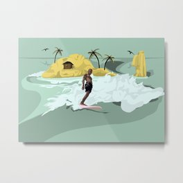 Lonely Surfer Vivo Metal Print
