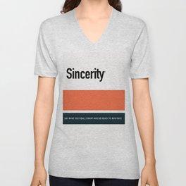 SINCERITY Unisex V-Neck