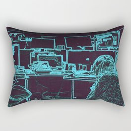 9-1-1 blue Rectangular Pillow