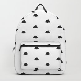 Dark grey small clouds pattern Backpack