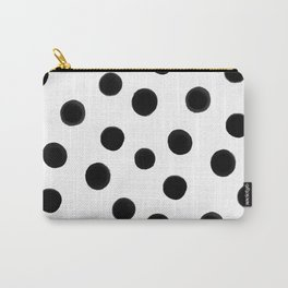Black polka dots Carry-All Pouch