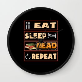 Books Book Reading Reader Student Gift Wall Clock