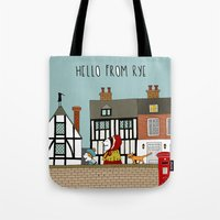 catcher in the rye Tote Bags featuring Rye Street by Natallia Pavaliayeva