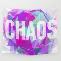 chaos Wall Tapestries featuring CHAOS by artic
