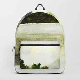 Silence, landscape painting Backpack