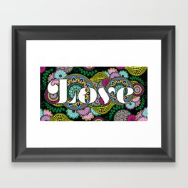 Love Mandala Framed Art Print