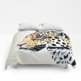 The Leopard Watercolor (Color) Comforters