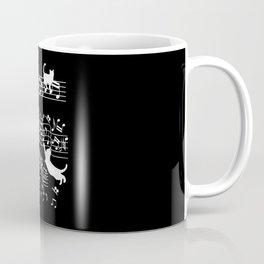 Cat Musician Funny cats music Clef Gift Coffee Mug