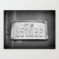 number Canvas Prints featuring Number by Gebmart Studio