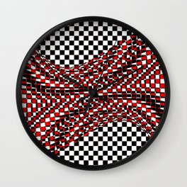black white red Wall Clock