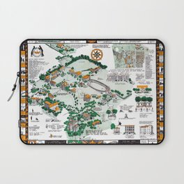 SYRACUSE campus map NEW YORK dorm decor graduate Laptop Sleeve