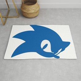 Sonic Blue Hedgehog Sillhoutte Rug