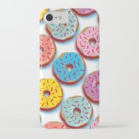 donuts iPhone & iPod Cases featuring Donuts by Helene Michau