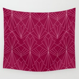 Art Deco in Raspberry Pink Wall Tapestry