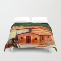 italian Duvet Covers featuring ✔️Italian Farmhouse by Tru Images Photo Art