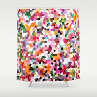 mosaic Shower Curtains featuring Mosaic by Laura Ruth