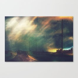 Dark Road Canvas Print