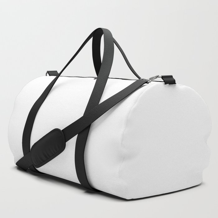 Plain White Simple Solid Color All Over Print Duffle Bag by podartist  3751bf62f8c92