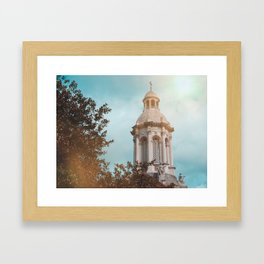 Trinity College Campanile Bell Tower Framed Art Print