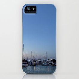 Sunset and Boats at the bay at Nelsons Bay, NSW, Australia iPhone Case