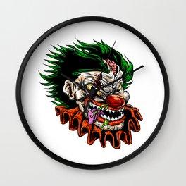 zombie evil clown Wall Clock