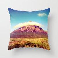 scotland Throw Pillows featuring Buachaille Etive Mòr, scotland. by zenitt