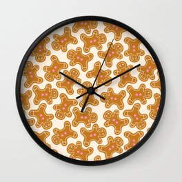 Gingerbread & Gumdrop Buttons Wall Clock