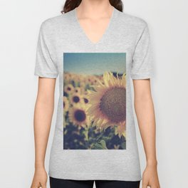 """Sunflowers"" Vintage dreams Unisex V-Neck"