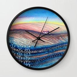 Dusky Hills Wall Clock