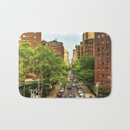10th Ave and W 26th St New York City Bath Mat