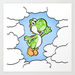 Yoshi in the sky !  Art Print