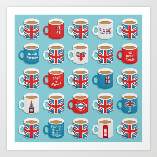 A Very British Brew Art Print