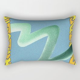 wave particle bounce Rectangular Pillow