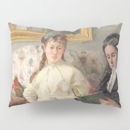 The Mother and Sister of the Artist - Marie-Joséphine & Edma by Berthe Morisot Pillow Sham