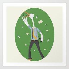 Stork Broker! Art Print
