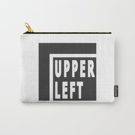 Upperleft Gray Carry-All Pouch