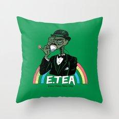 E.Tea Throw Pillow