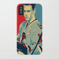 blackhawks iPhone & iPod Cases featuring Towes One Goal by Thousand Lines Ink