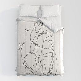one line heart Comforters