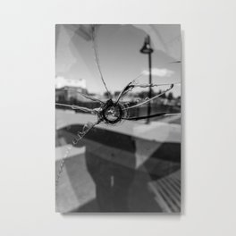 Bulletheart Black and White Metal Print