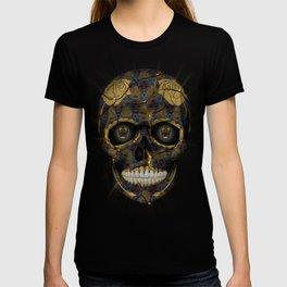 Skull Yellow | Tessellating Skulls Pattern | M. C. Escher Inspired Geometric Artwork by Tessellation T-shirt