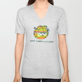 Have Fewer Opinions Unisex V-Neck