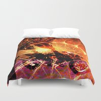 motorbike Duvet Covers featuring N-GLEXT MOTORBIKE by Coga/N-Glext 24