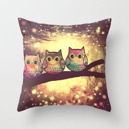 owl-246 Throw Pillow