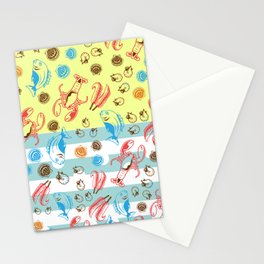 Colorful SeaFood Stationery Cards