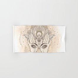Peach & Gold Boho Lotus Hand & Bath Towel