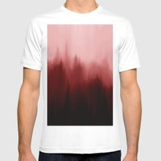 Blood Pines MEDIUM White Mens Fitted Tee
