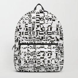 White noise.  Backpack
